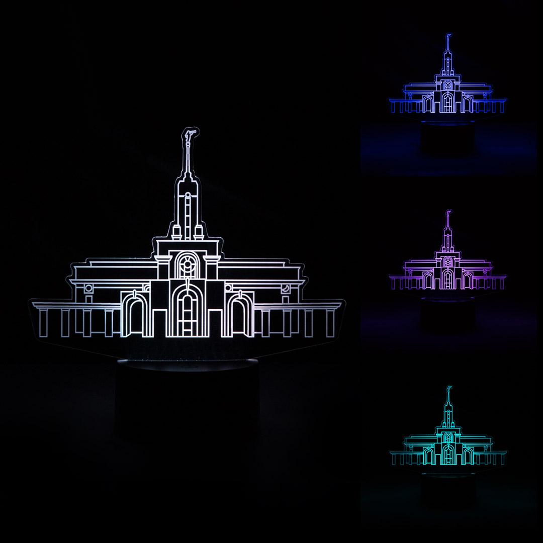 Mount Timpanogos Temple Illuminated Desk Light - LDP-IDL-MTTIMP