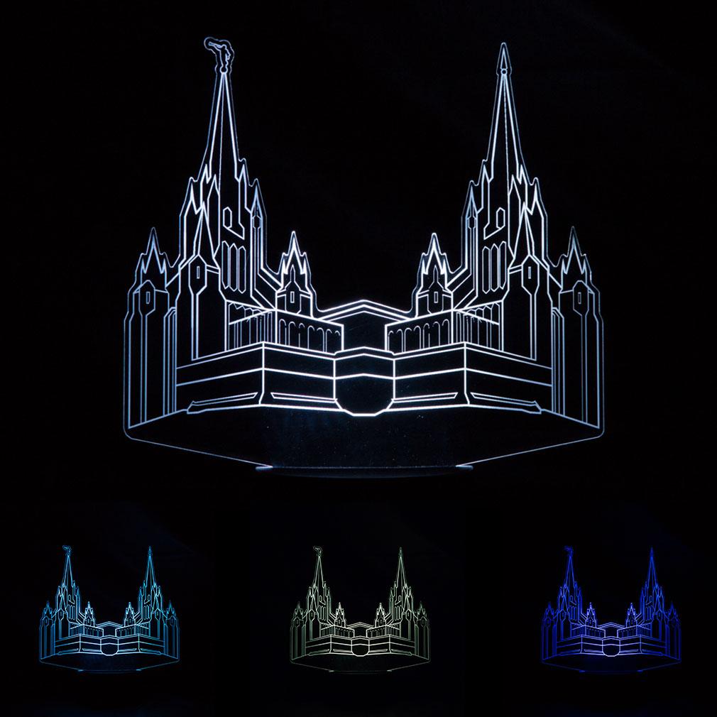 San Diego Temple Illuminated Desk Light - LDP-IDL-SAND