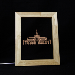 Bountiful Temple Illuminated Picture Frame