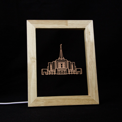 Gilbert Temple LED Frame Night Light Gilbert Arizona Temple, Gilbert Arizona Temple decor, lds temple desk light, lds temple decor, lds decorations, lds gifts, lds christmas gifts