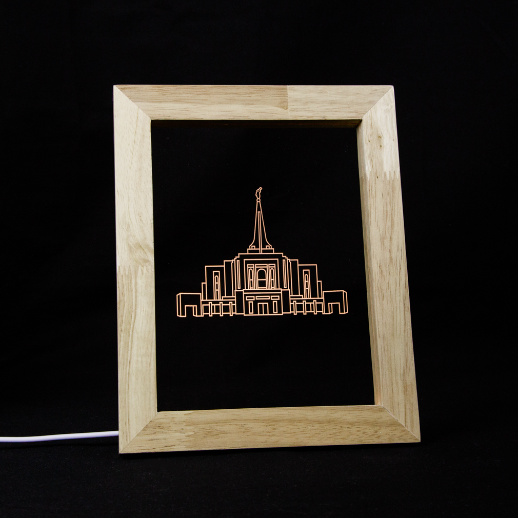 Gilbert Temple Illuminated Picture Frame in Illuminated Picture ...