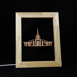 Idaho Falls Temple Illuminated Picture Frame