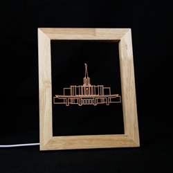 Jordan River Temple LED Frame Night Light Jordan River Utah Temple, Jordan River Utah Temple decor, lds temple gift, lds temple decor, lds christmas gifts, lds decor