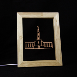 Los Angeles Temple LED Frame Night Light Los Angeles California Temple, Los Angeles California Temple decor, lds temple decor, lds christmas gifts, lds gifts