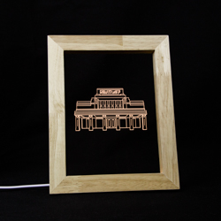 Laie Temple LED Frame Night Light Laie Hawaii Temple, Laie Hawaii Temple decor, lds temple decor, lds christmas gifts, lds gifts