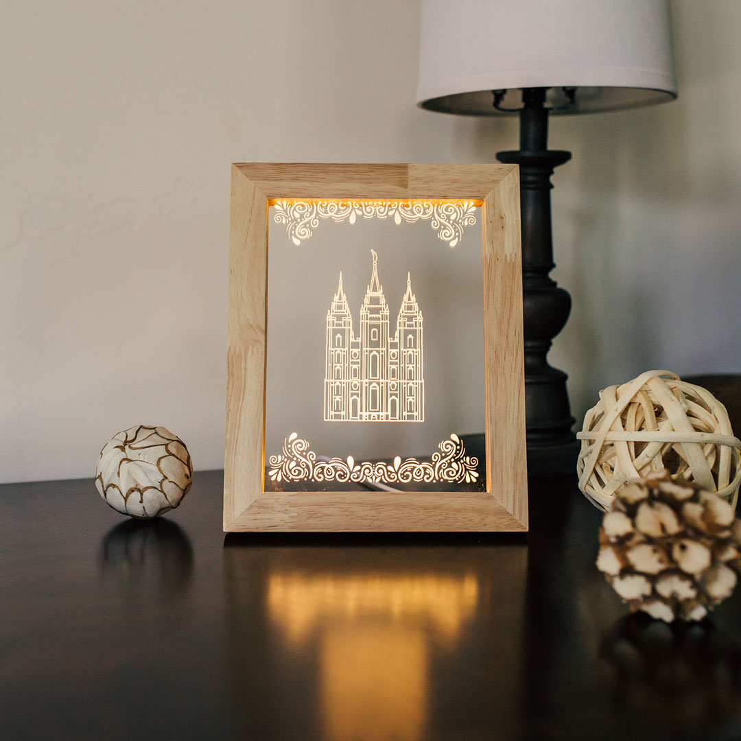 Salt Lake City Temple Illuminated Picture Frame - LDP-IPF-SLC-NB