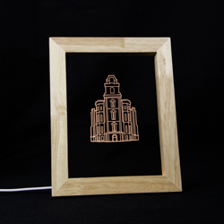 Manti Temple Illuminated Picture Frame