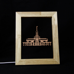 Mount Timpanogos Temple Illuminated Picture Frame - LDP-IPF-MTTIMP-NB