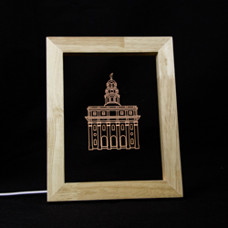 Nauvoo Temple LED Frame Night Light Nauvoo Illinois Temple, Nauvoo Illinois Temple decor, lds temple decor, lds christmas gifts, lds gifts, lds temple gifts