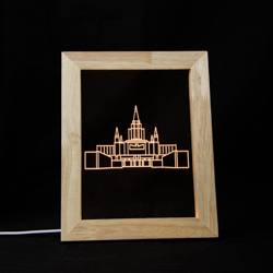 Oakland Temple Illuminated Picture Frame - LDP-IPF-OAK-NB