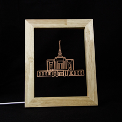 Ogden Temple Illuminated Picture Frame Ogden Utah Temple,Ogden Utah Temple decor, lds temple decor, lds christmas gifts, lds temple gifts