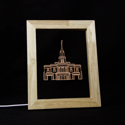 Payson Temple LED Frame Night Light Payson Utah Temple, Payson Utah Temple decor, lds temple decor, lds christmas gifts, lds gifts,
