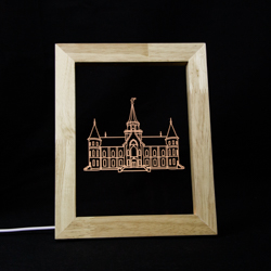 Provo City Center Temple Illuminated Picture Frame