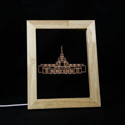 Phoenix Temple Illuminated Picture Frame Phoenix Arizona Temple, Phoenix Arizona Temple decor, Phoenix Arizona Temple desk light, lds temple decor, lds temple gifts, lds christmas gifts, lds gifts, lds decor