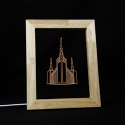 Portland Temple LED Frame Night Light Portland Oregon Temple, Portland Oregon Temple decor, Portland Oregon Temple gifts, lds christmas gifts, lds decor, lds gifts, portland temple