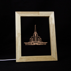 Rexburg Temple Illuminated Picture Frame rexburg idaho temple, rexburg idaho temple art, rexburg idaho temple decor, rexburg idaho temple picture, lds temple decor, lds gifts, lds products