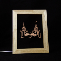 San Diego Temple LED Frame Night Light san diego temple, san diego temple desk light, san diego temple decor. san diego temple gift, lds temple gifts, lds gifts, lds decor, lds home decor, illuminated desk light