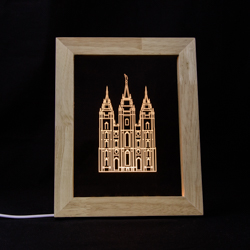 Salt Lake City Temple Illuminated Picture Frame Salt Lake City Utah Temple, Salt Lake City Utah Temple decor, Salt Lake City Utah Temple art, lds temple art, lds temple decor, lds christmas gifts, lds gifts