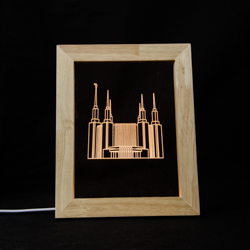 Washington D.C. Temple LED Frame Night Light Washington D.C. Temple, Washington D.C. Temple decor, lds temple decor, lds christmas gifts, lds temple desk light, lds temple framed decor, lds gifts