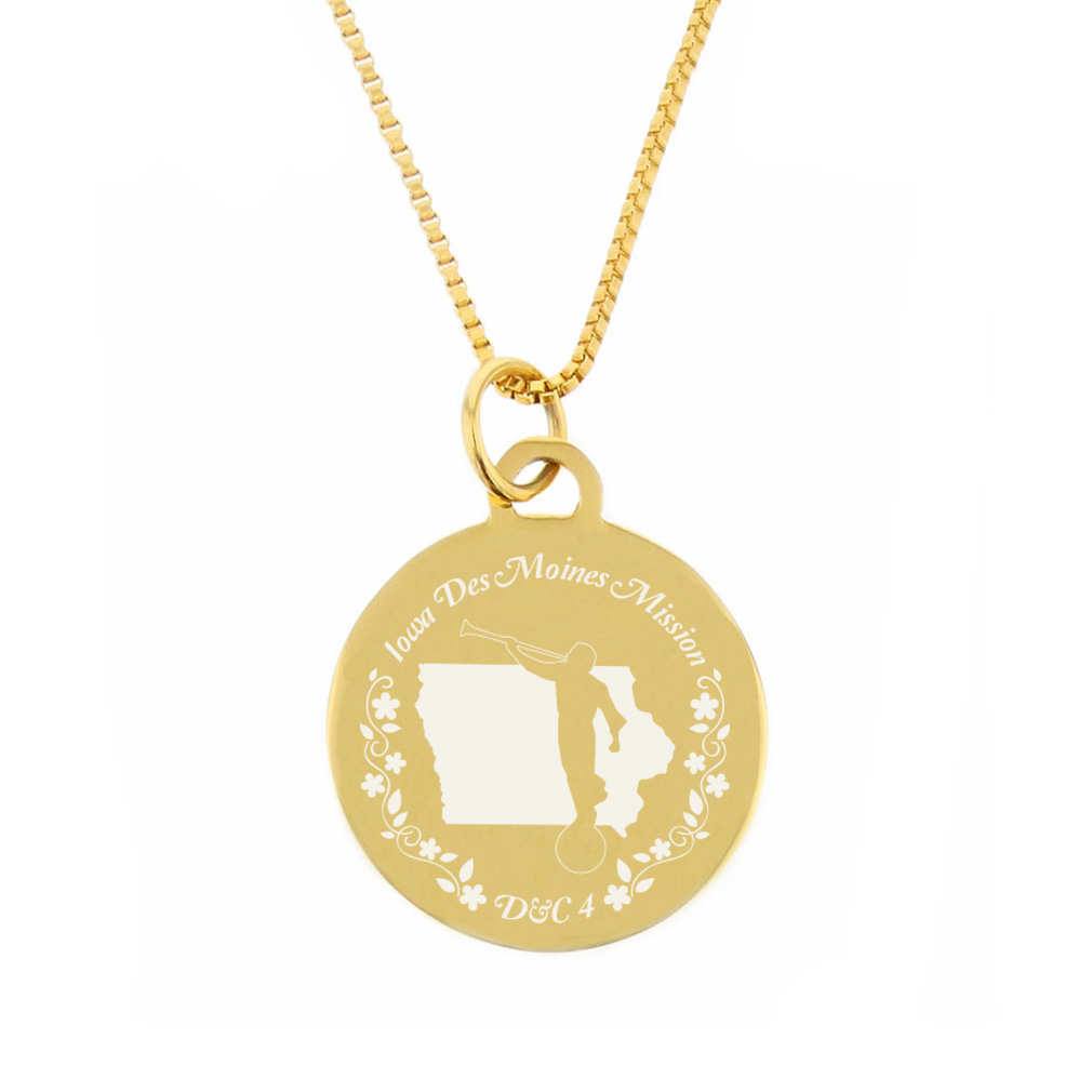 Iowa Mission Necklace - Silver/Gold - LDP-CPN54