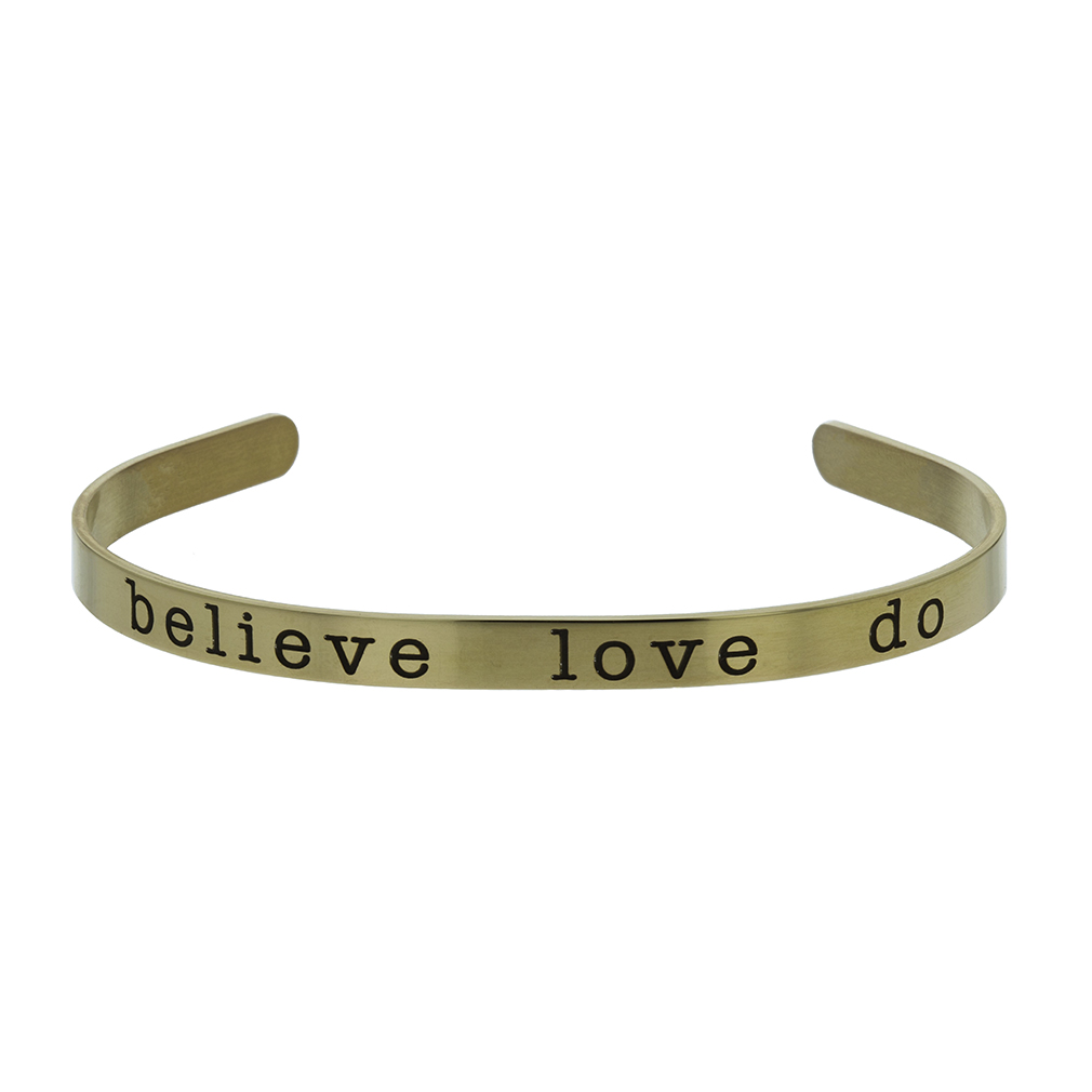Believe Love Do Cuff Bracelet - LDP-CFB-BELIEVE-LOVE-DO