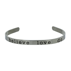 Believe Love Do Cuff Bracelet