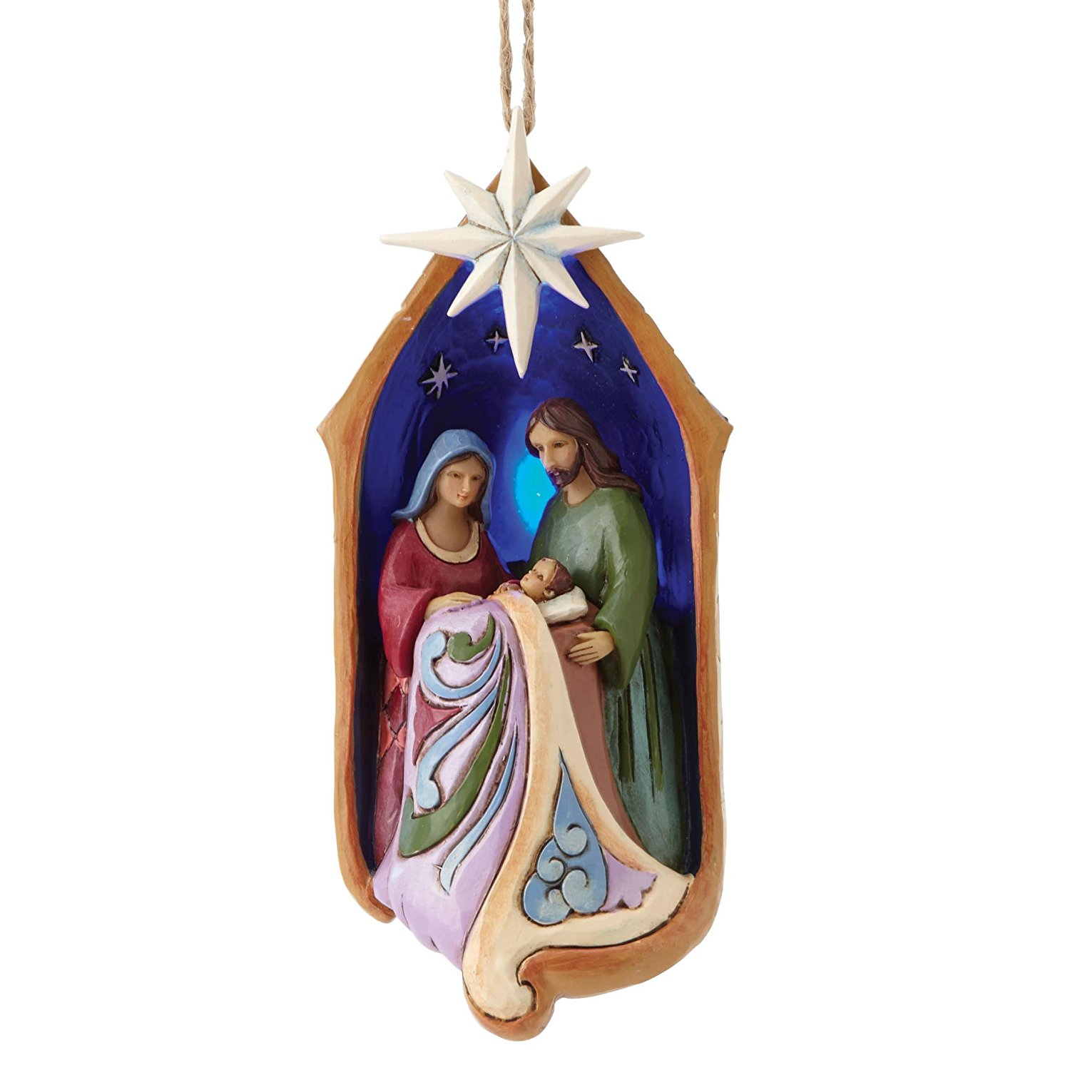 jim shore holy family in light up stable christmas ornament nativity in ornaments ldsbookstorecom enc 4053846