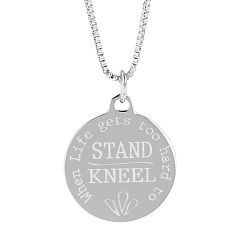 When Life Gets Too Hard to Stand, Kneel Pendant Necklace