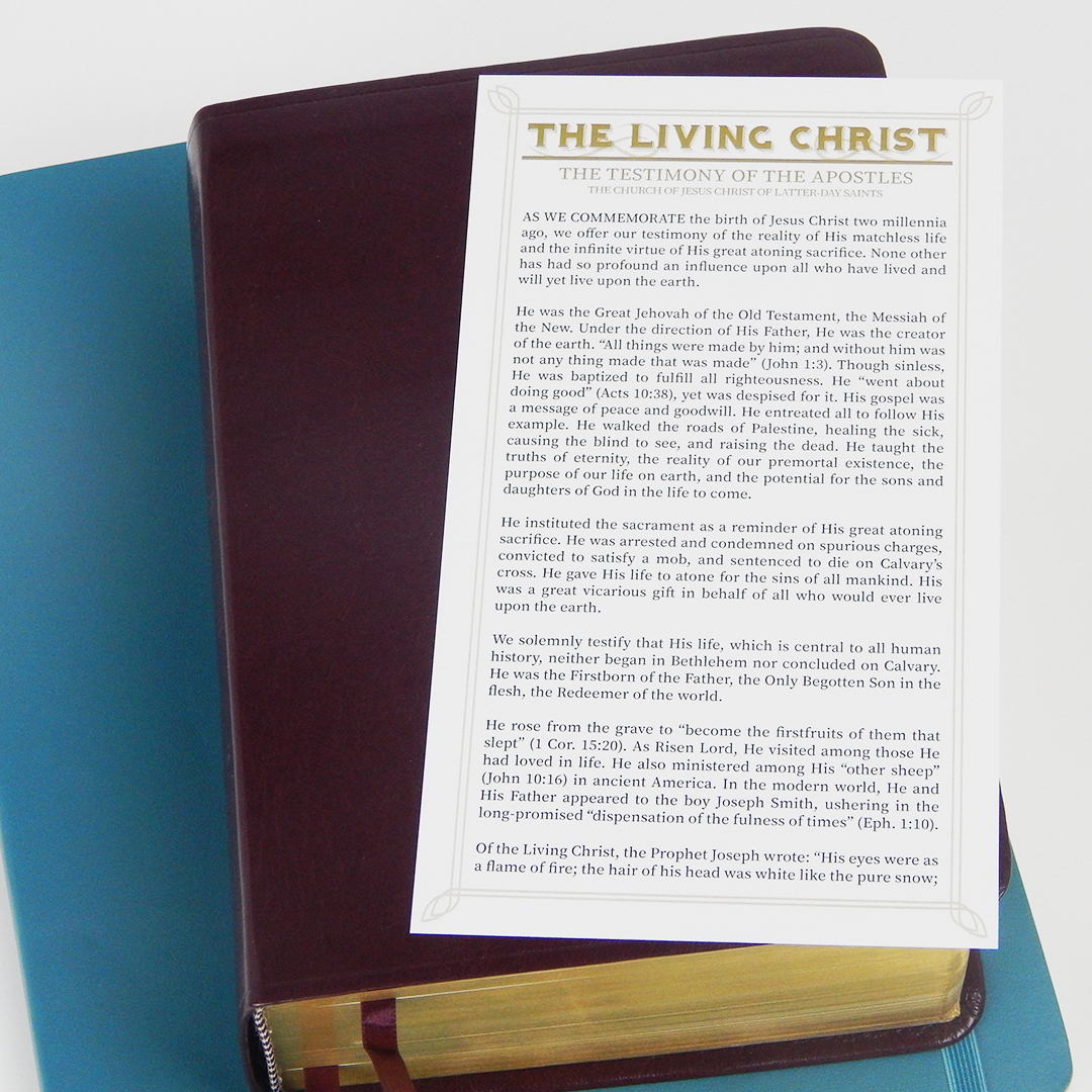 The Living Christ Bookmark - LDP-BKMK326