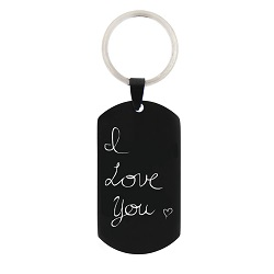 Personalized Handwriting Dog Tag Keychain/Necklace handwriting dog tag, handwriting necklace, personalized necklace, engraved dogtag