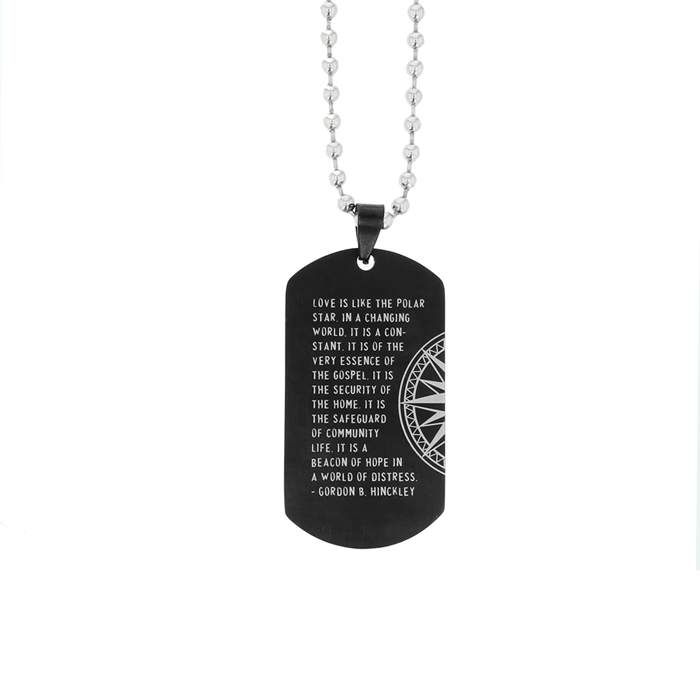 Family Compass Keychain/Necklace - LDP-DTG130-BLK