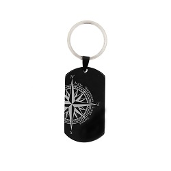 Family Compass Keychain/Necklace - LDP-DTG130