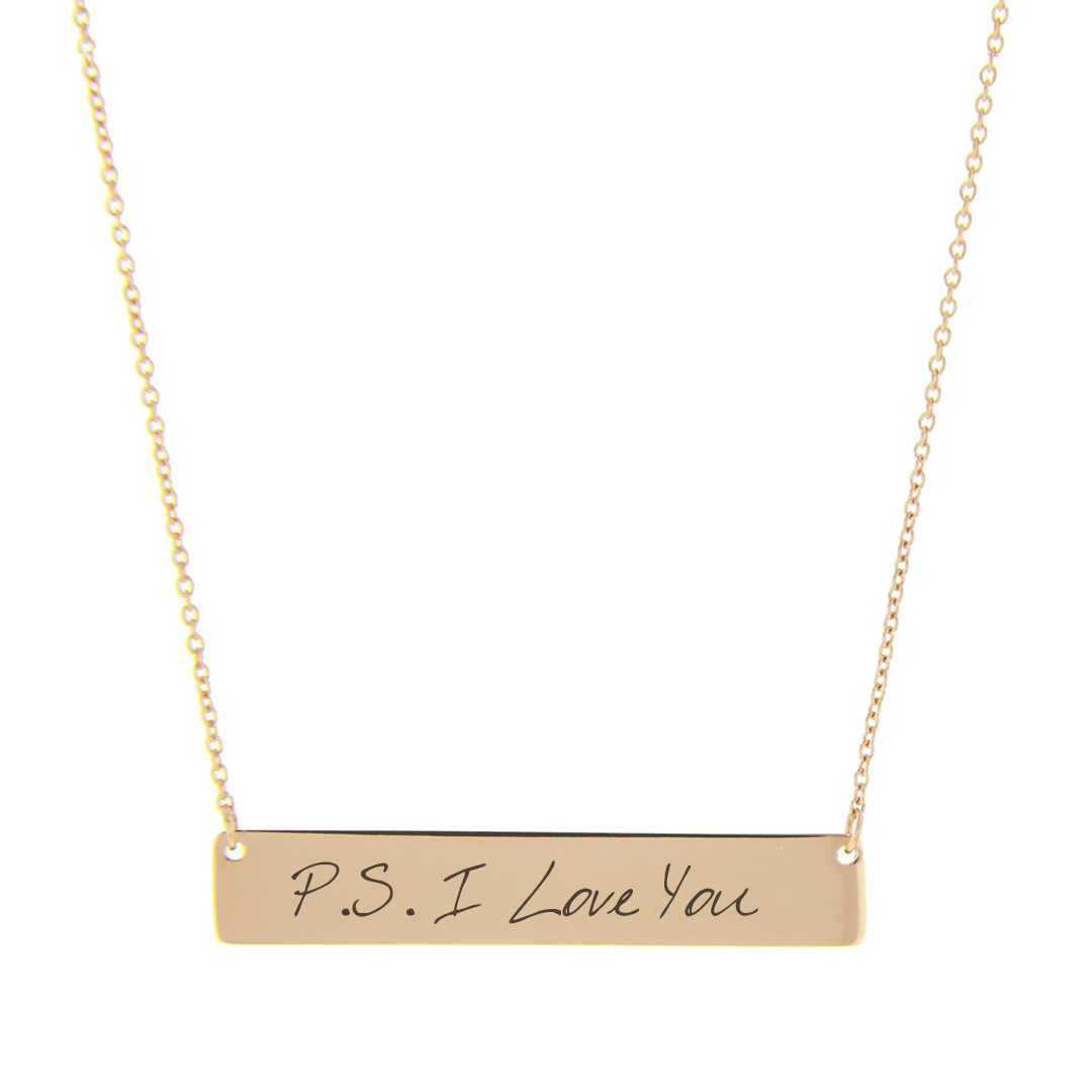 Personalized Handwriting Bar Necklace  - LDP-HBN103
