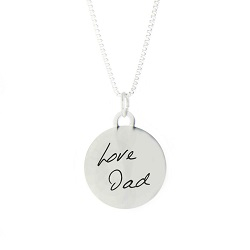 Personalized Handwriting Circle Pendant Necklace  - LDP-CPN104