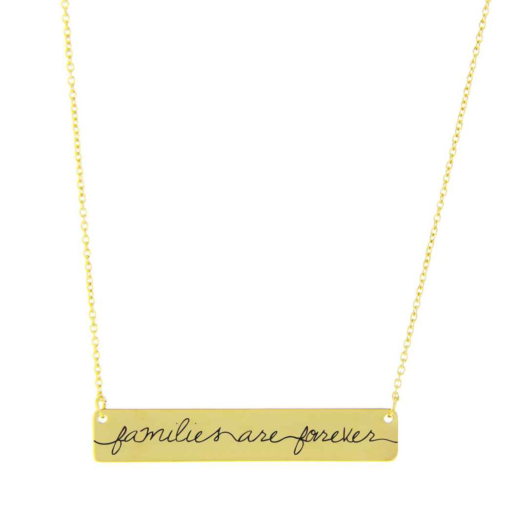 Families are Forever Bar Necklace - LDP-HBN108