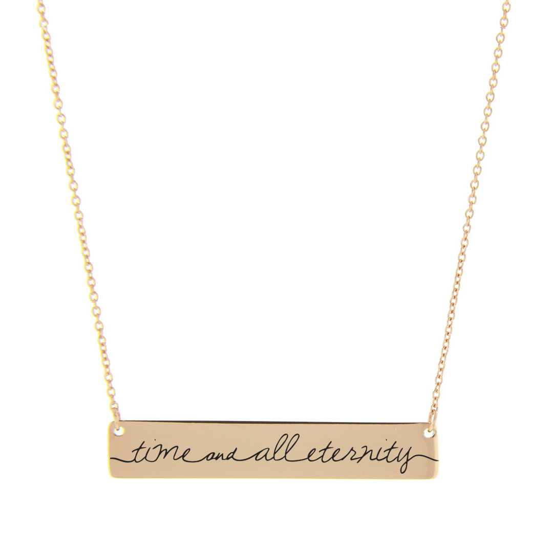 Time and All Eternity Bar Necklace - LDP-HBN109-GLD