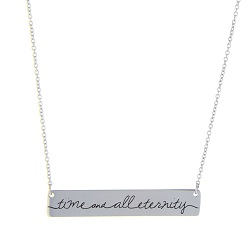 Time and All Eternity Bar Necklace