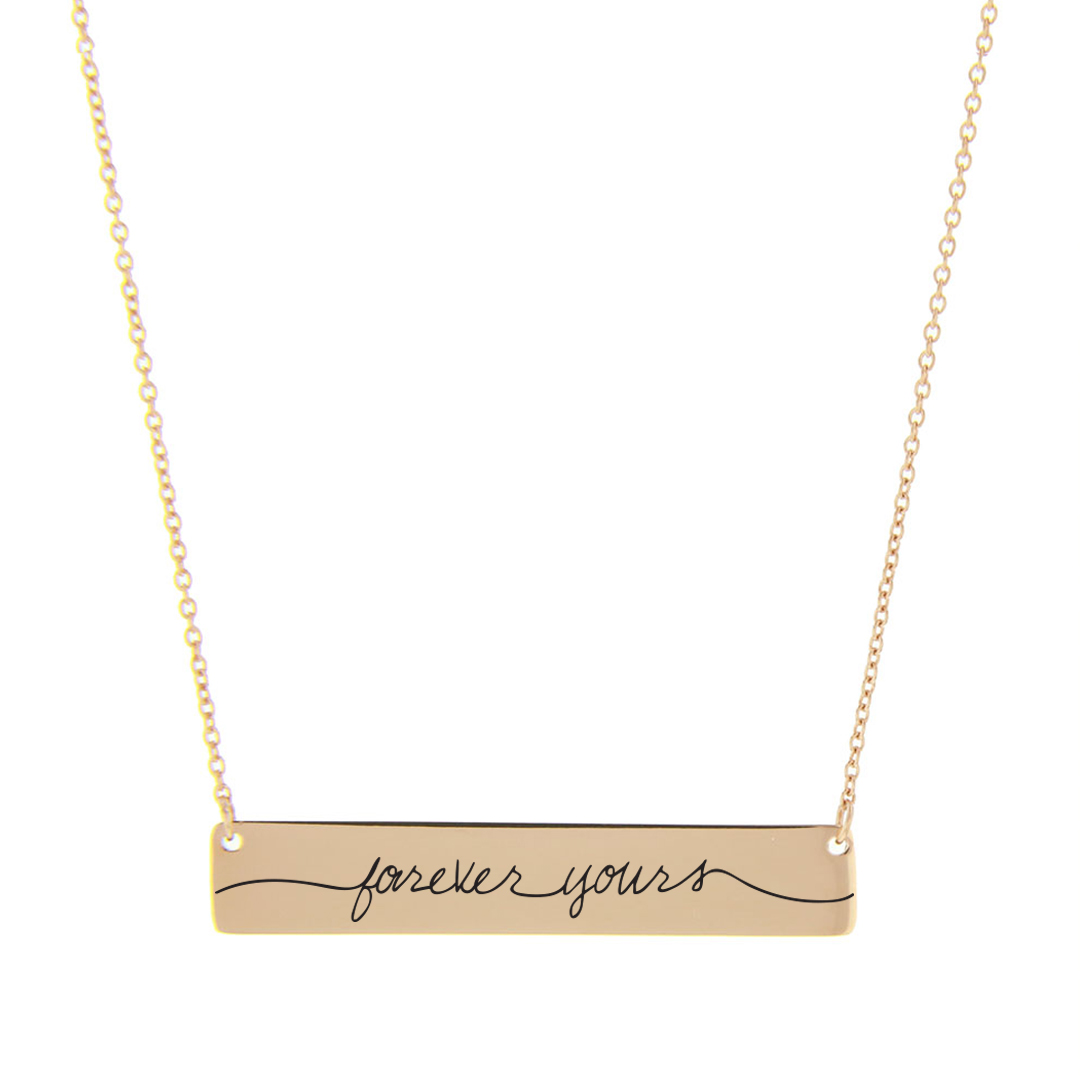 Forever Yours Bar Necklace - LDP-HBN111