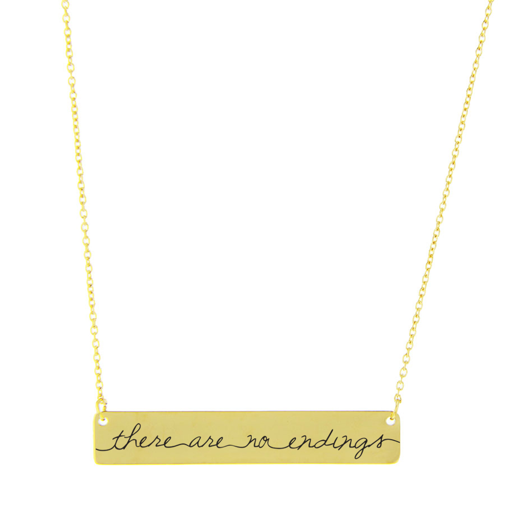 There Are No Endings Bar Necklace - LDP-HBN112