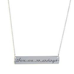 There Are No Endings Bar Necklace bar necklace, text bar necklace, gold bar necklace, engraved necklace, bereavement necklace,