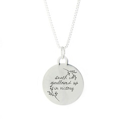 Swallowed Up in Victory Pendant Necklace bereavement necklace, pendant necklace, lds bereavement necklace