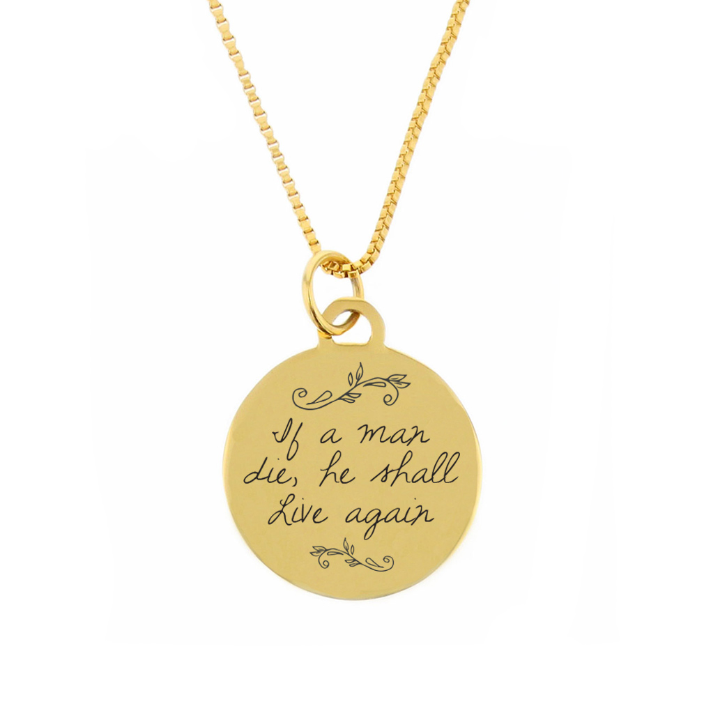 If a Man Die Pendant Necklace - LDP-CPN115