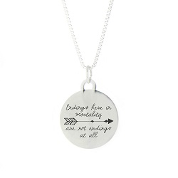 Not Endings At All Pendant Necklace bereavement necklace, lds pendant necklace