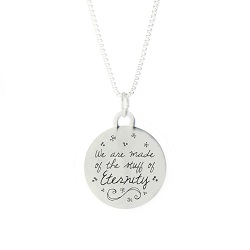 The Stuff of Eternity Pendant Necklace bereavement necklace, lds pendant necklace