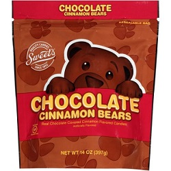 Chocolate Covered Cinnamon Bears - 14 oz. Bag