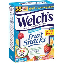 Welchs Fruit Snacks - 22/ Box
