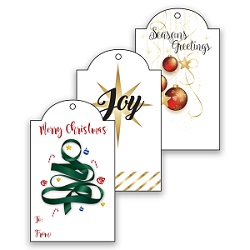 Printable LDS Christmas Gift Tags - Gold
