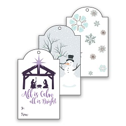 Printable LDS Christmas Gift Tags - Winter