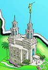 LDS Temple Poster - LDP-B00FFLCQ2Y