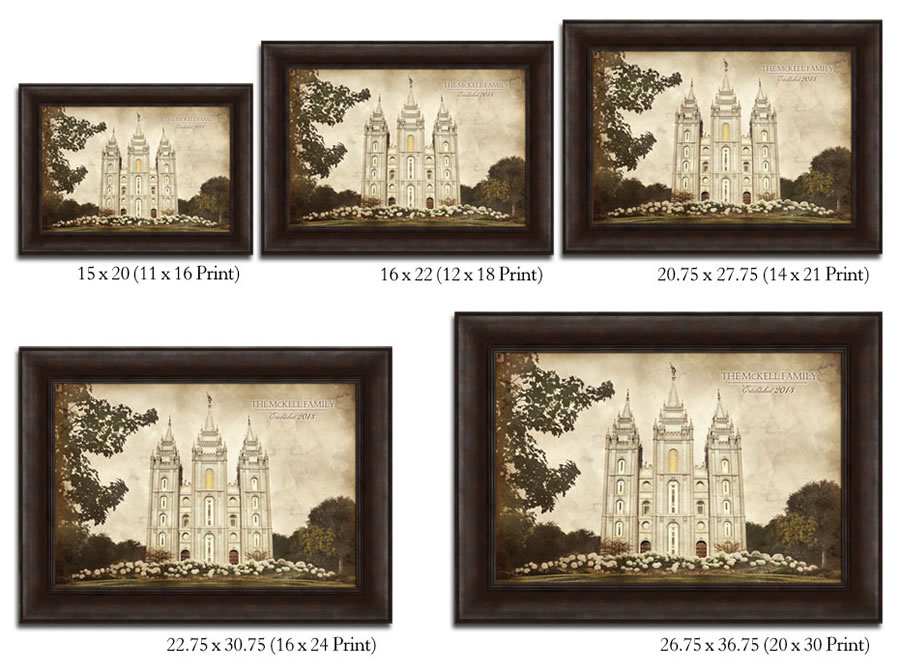 Salt Lake Temple - Vintage Framed in Temple | LDSBookstore.com (#D ...